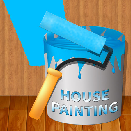House Painting Paint Showing Home Painter 3d Illustration