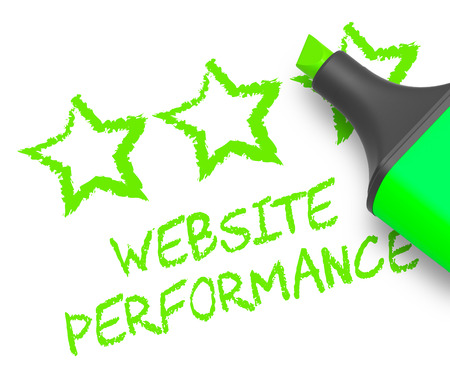 Website Performance Stars Means Quality Report 3d Illustration