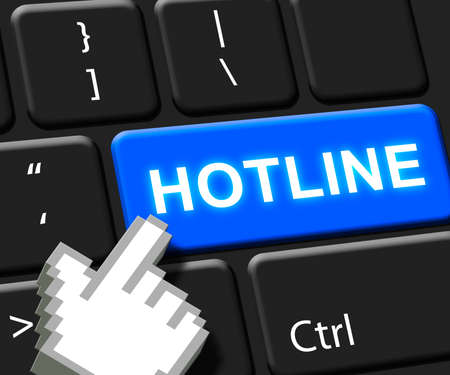 Hotline Key Shows Online Help 3d Illustration Stock Photo
