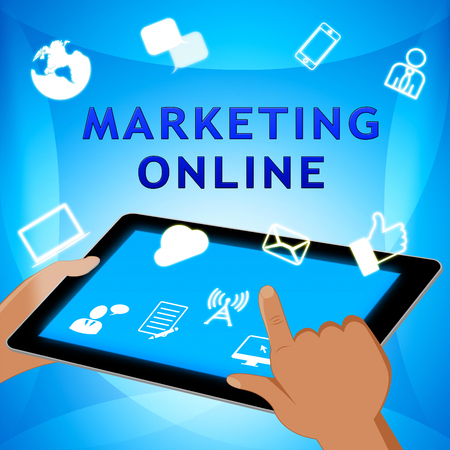 Marketing Online Shows Market Promotions 3d Illustration Stock Photo