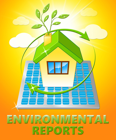 earth day: Environment Reports House Displays Nature 3d Illustration