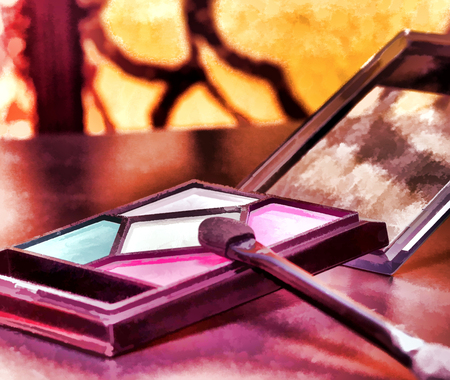Cosmetic Eye Makeup Represents Beauty Products And Cosmetology