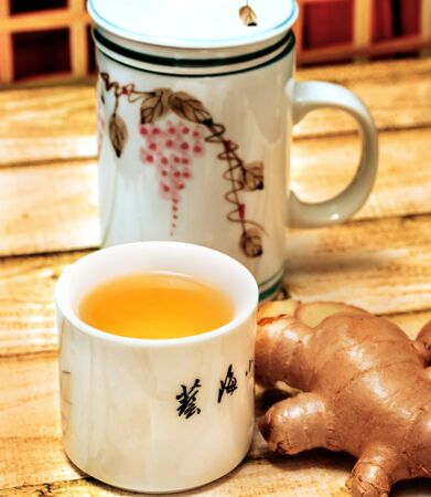 Japanese Ginger Tea Showing Teacup Drink And Teas