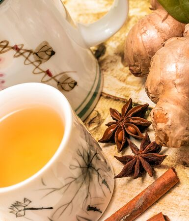 Chinese Ginger Tea Representing Refreshment Herbals And Refreshments
