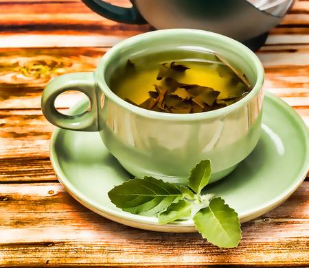 Mint Tea Refreshment Showing Drinks Fruits And Cafes Banco de Imagens