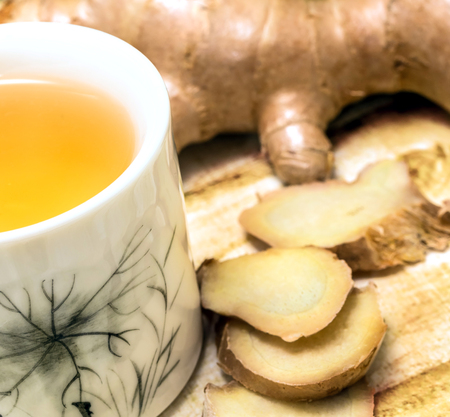 Outdoor Ginger Tea Indicating Spices Beverages And Teas Banco de Imagens