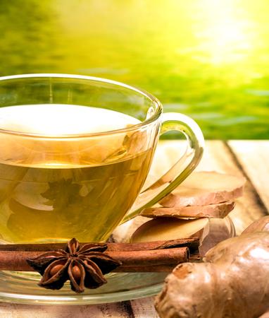 Tea On Patio Representing Refreshments Cup And Refreshment Banco de Imagens