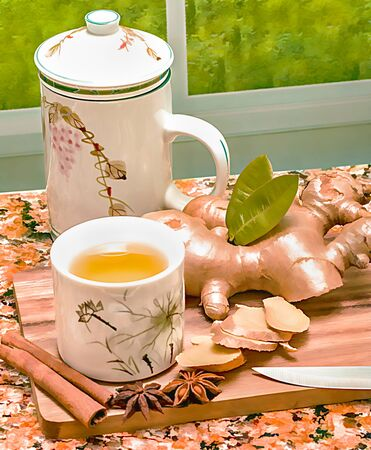 Ginger Tea Cup Indicating Drinks Spiced And Refreshment