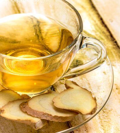 Ginger Tea Cup Indicating Teacups Teacup And Beverage Banco de Imagens