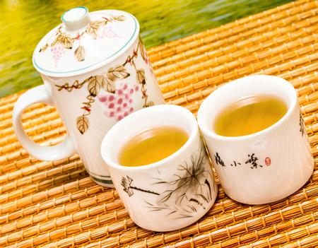Refreshing Green Tea Meaning Break Refreshment And Beverage Banco de Imagens