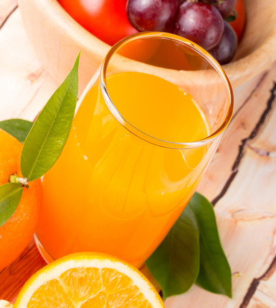Freshly Squeezed Juice Representing Citrus Fruit And Refresh