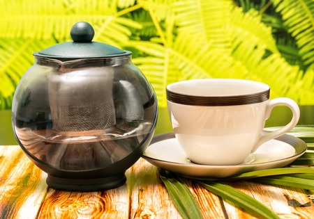 Outdoor Green Tea Representing Drink Outdoors And Outside Banco de Imagens