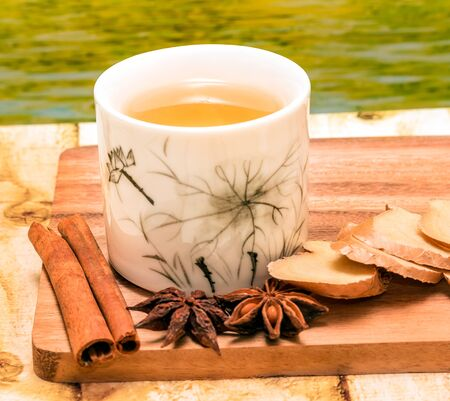 Chinese Ginger Tea Showing Herbals Organic And Refreshed