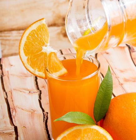 Orange Juice Beverage Showing Citrus Fruit And Freshness