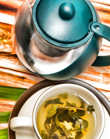 Lime Green Teas Representing Refreshing Refresh And Citruses