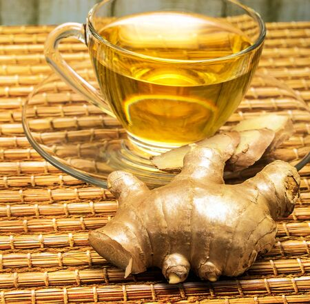 Refreshing Ginger Tea Indicating Refreshes Teas And Spice