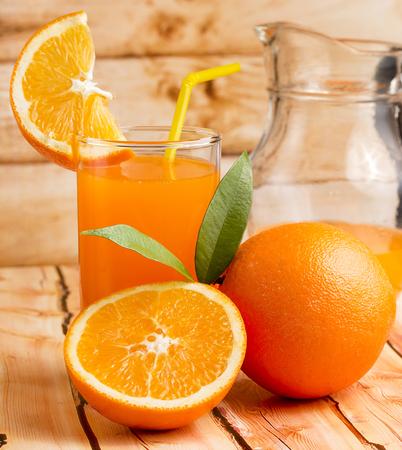 Orange Juice Squeezed Showing Citrus Fruit And Refreshing Stock Photo