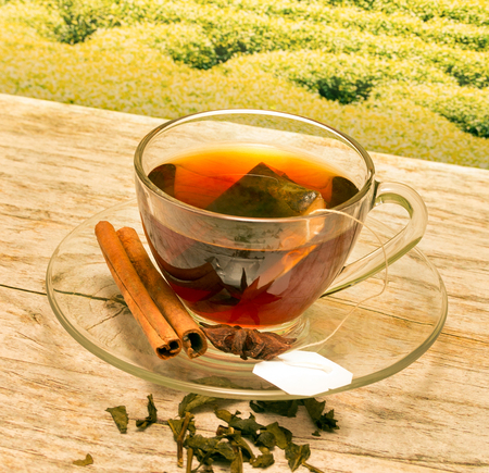 Tea With Cinnamon Meaning Break Time And Spiced