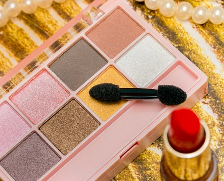 Lipstick Makeup Representing Beauty Products And Cosmetic Stock Photo