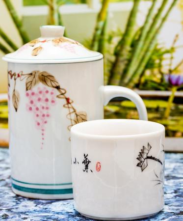 Green Tea Cup Banco de Imagens