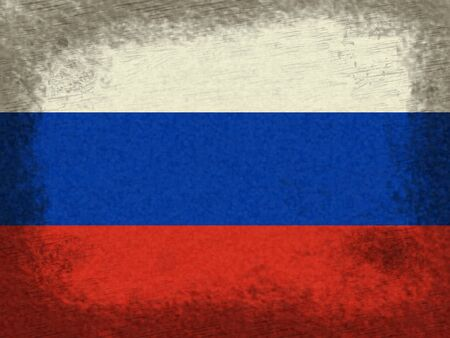Russia Flag And Grunge Background 3d Illustration