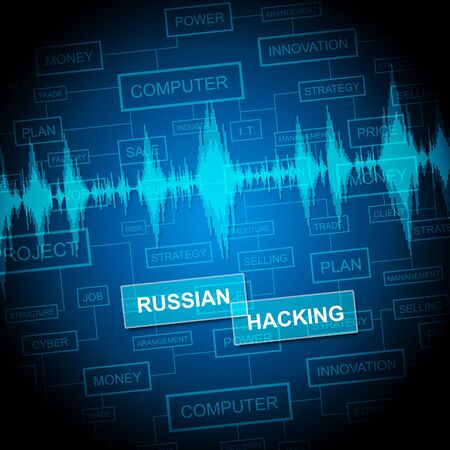 Russian Hacking Words And Data Signal 3d Illustration