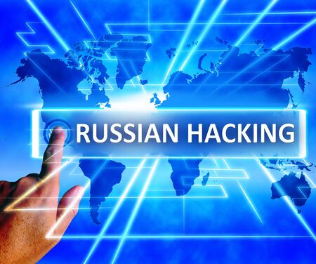 Russian Hacking World Map Showing Cybercrime 3d Illustration
