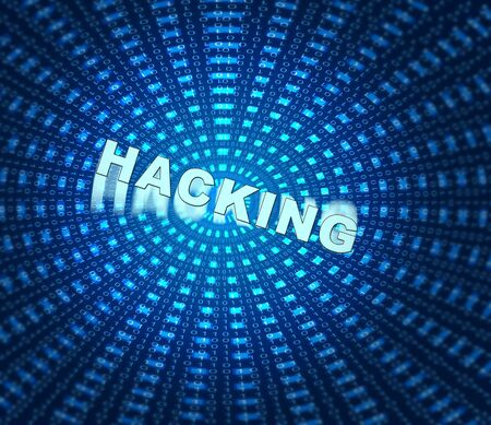 Hacking Word On Data Tunnel Is 3d Illustration