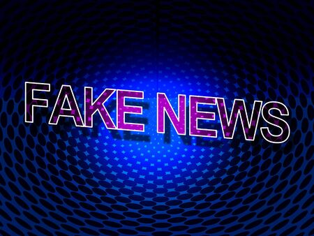 Fake News Means Misleading Falsehood 3d Illustration Stock Photo