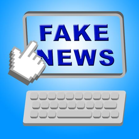 Fake News Message On Screen 3d Illustration Stock Photo