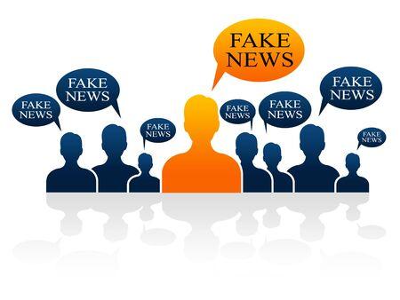 Fake News Social Media Men Speech Bubbles 3d Illustration Stock Photo