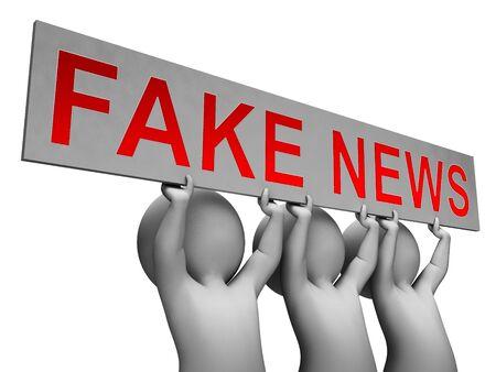 Fake News Message Meaning Untrue 3d Illustration