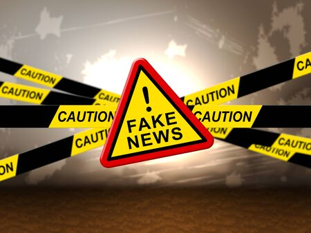 Sign With Fake News Warning 3d Illustration