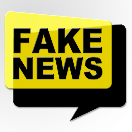 Fake News Yellow And Black Speech Bubble 3d Illustration