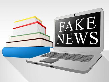 Fake News Message On Laptop 3d Illustration Stock Photo
