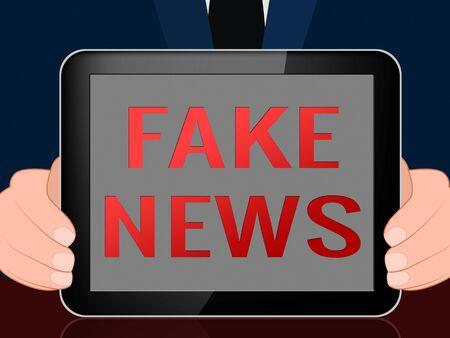 Fake News Tablet Computer Message 3d Illustration