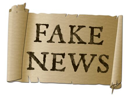 Fake News Parchment Meaning Distorted Truth 3d Illustration