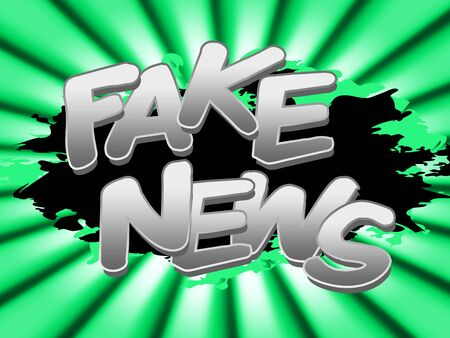Fake News Word Meaning Alternative Facts 3d Illustration Stock Photo