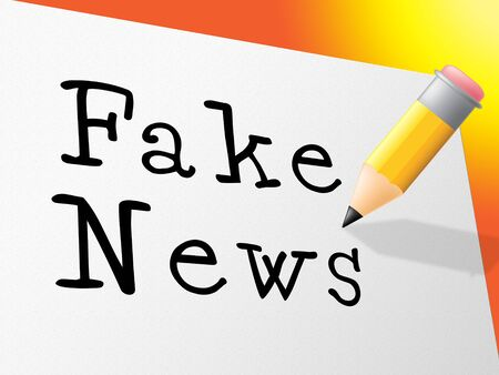 Fake News Message On A Card 3d Illustration Stock Photo