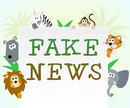 Fake News Animals Meaning Untruth 3d Illustration