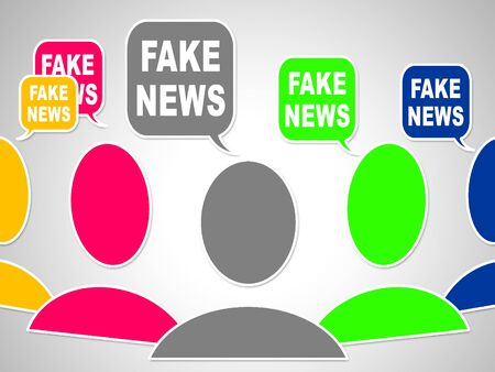 Fake News Social Media Bubbles 3d Illustration Stock Photo