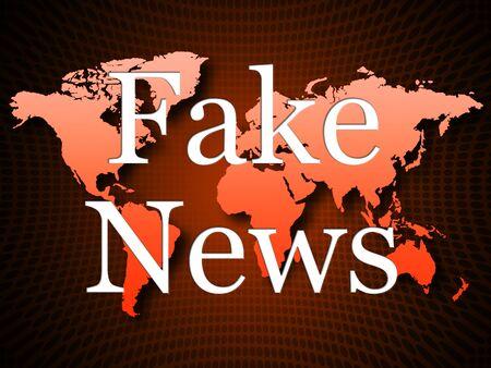 Fake News Propaganda On Map Alternative Facts 3d Illustration