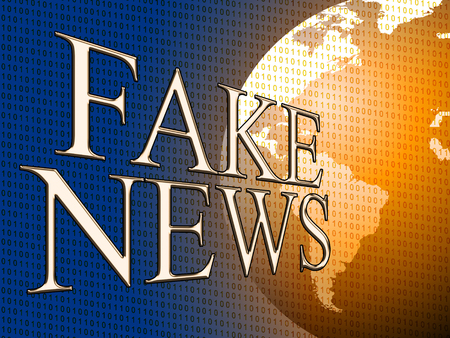 Fake News With Map Globe 3d Illustration Stock Photo