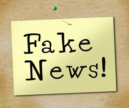 Fake News Note Meaning Misinformation 3d Illustration Stock Photo