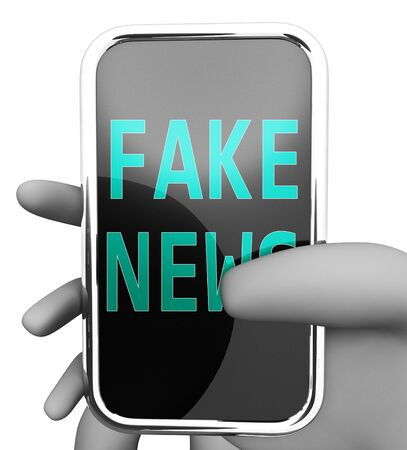 Fake News Message On A Smartphone 3d Illustration