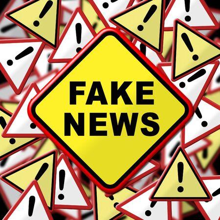 Fake News Disinformation Warning Signs 3d Illustration