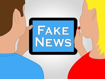 Fake News Tablet Showing Alternative Facts 3d Illustration