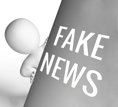 Fake News Character With Message 3d Illustration Stock Photo