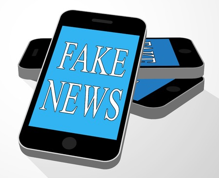 Fake News Message On A Smart Phone 3d Illustration