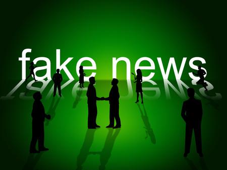 Fake News People Communicate Together 3d Illustration